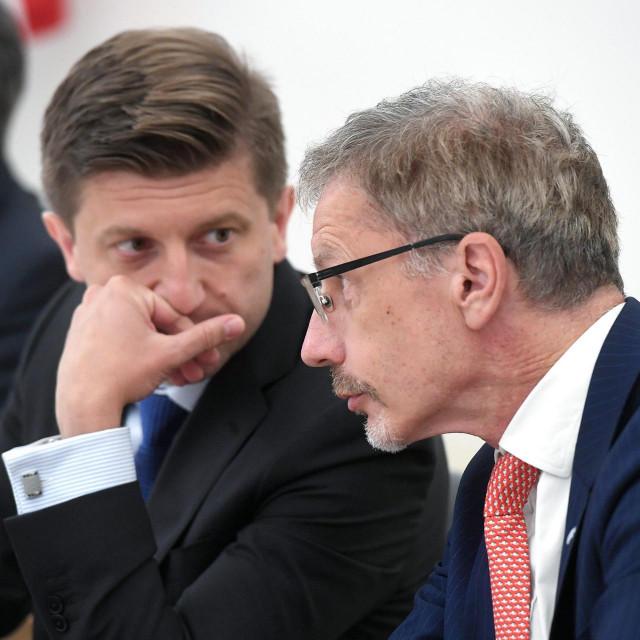 Zdravko Marić, ministar financija i Boris Vujčić, guverner Hrvatske narodne banke