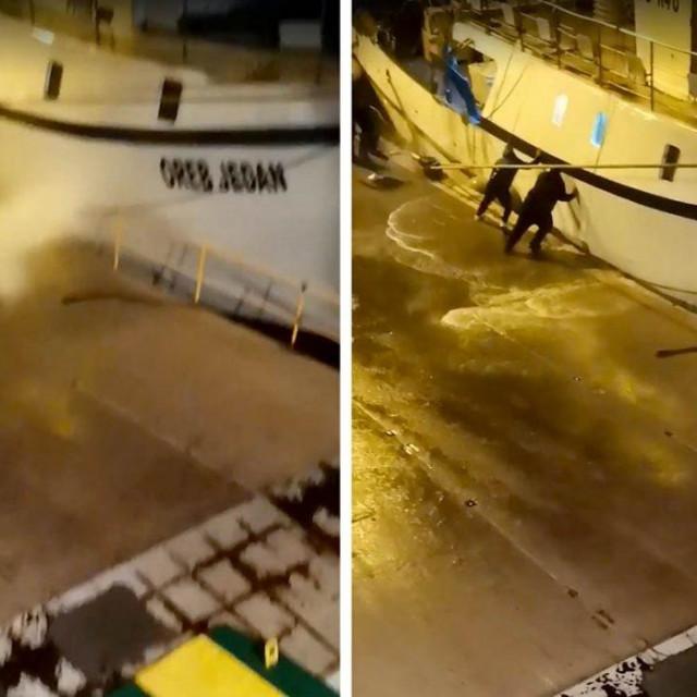 spašavanje ribarskog broda u Veloj Luci