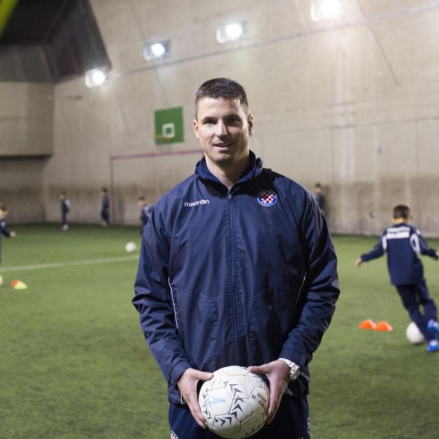 Split, 270215.<br /> Reportaza o HNK Hajduka generacija 2006 koju trenira trener Danijel Vuskovic.<br /> Na fotografiji: trener HNK Hajduka Danijel Vuskovic.<br />