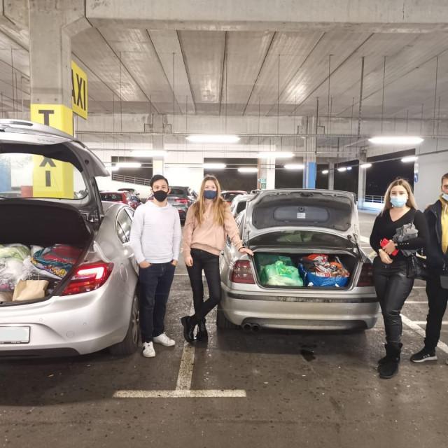 Studenti i volonteri Studentskog poduzetničkog inkubatora organizirali su akciju prikupljanja pomoći za Petrinju
