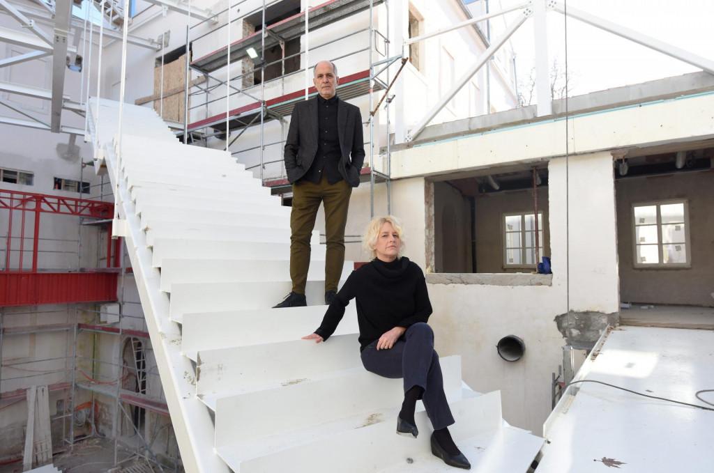 Arhitekti Iva Letilović i Igor Pedišić u Providurovoj palači