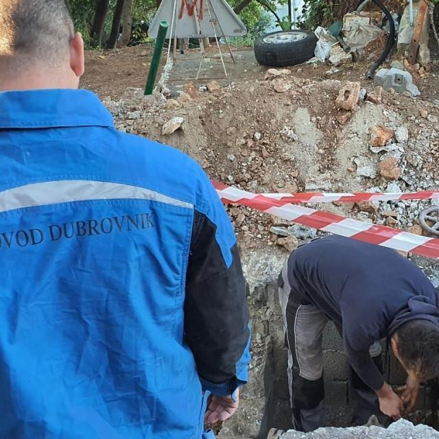 Vodovod Dubrovnik - radovi na mreži za TUP-ovo naselje