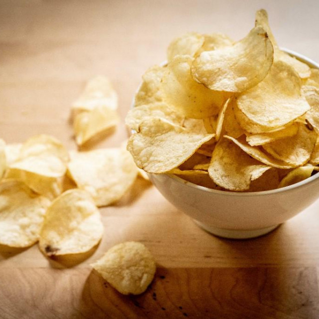 Potato chips.  <br>Bouzic, France  <br> <br>GARO/PHANIE