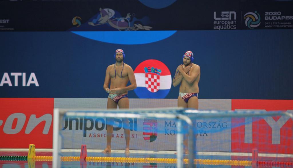 Xavi Garcia i Hrvoje Benić u kapici reprezentacije Hrvatske na Europskom prvenstvu u Budimpešti 2020. godine foto: Tonči Vlašić