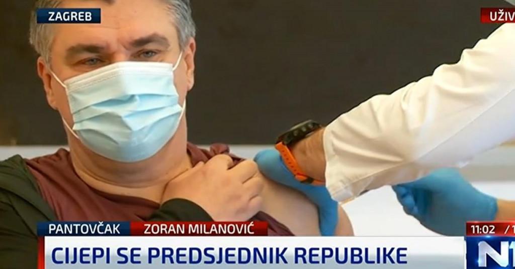 Zoran Milanović se javno cijepio protiv Covida-19