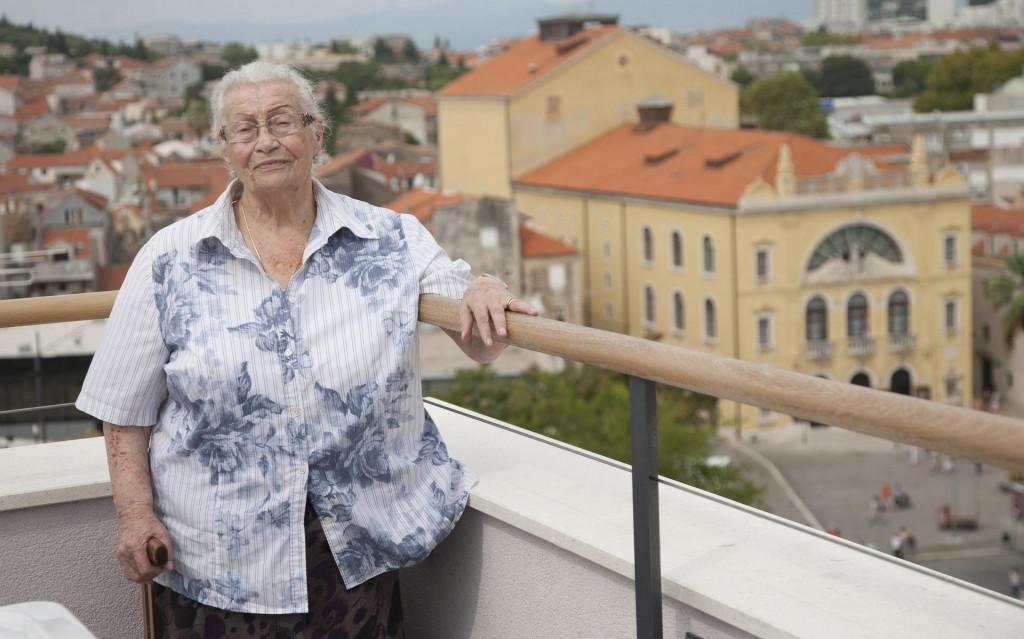 Biserka Cvejić s pogledom na HNK Split<br />