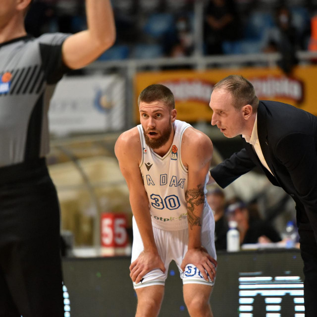 Dominik Mavra i trener Zadra Ivan Perincic.<br />