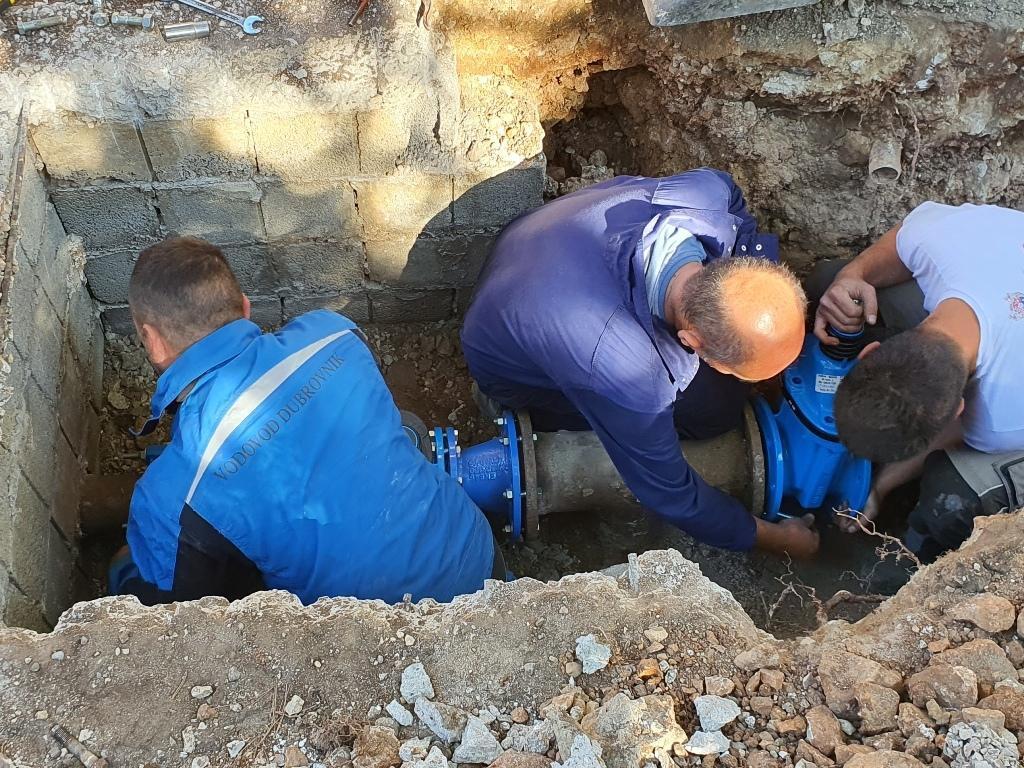 Komunalci Vodovoda Dubrovnik na djelu