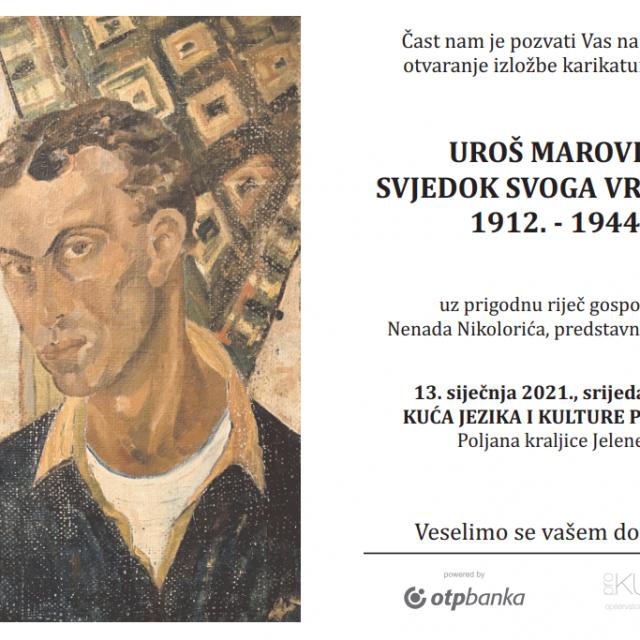 Pozivnica za izložbu Uroša Marovića