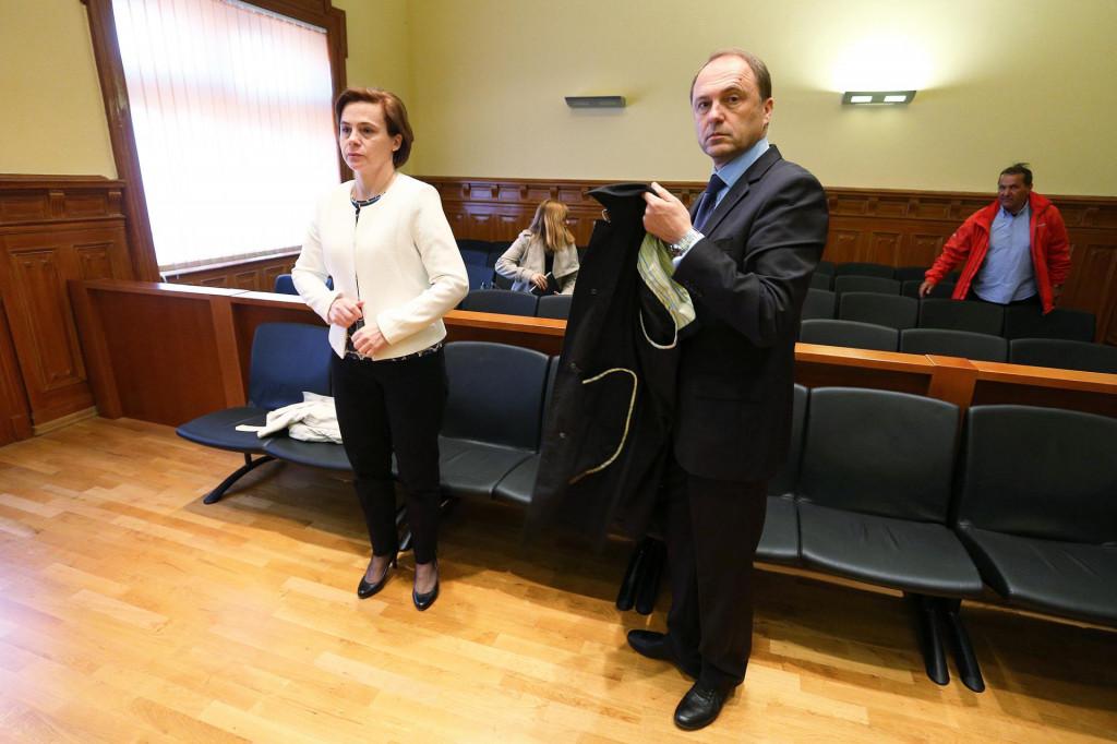 Josipa Marasović i Zoran Šikić na sudu