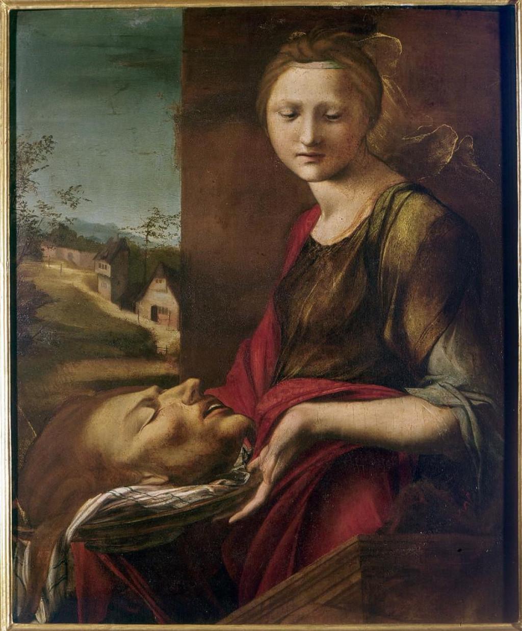 """""""Salomé"""", Berruguete. Galerie des Offices"""