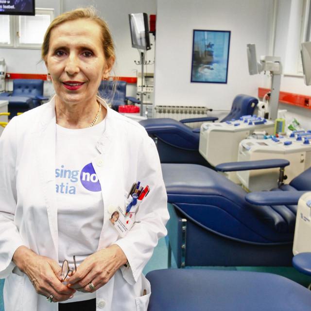 Doc. prim. dr. sc. Irena Jukić, ravnateljica Hrvatskog zavoda za transfuzijsku medicinu