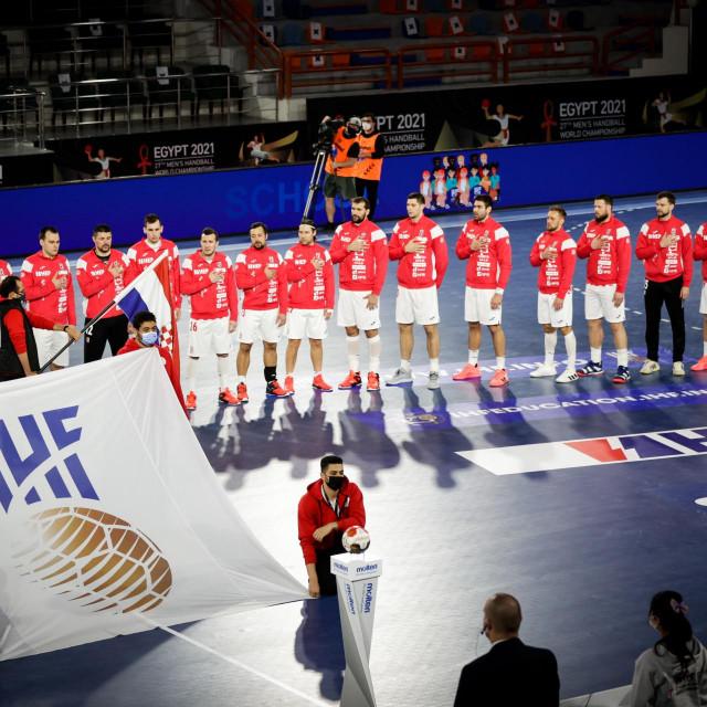 Hrvatska uoči utakmice protiv Japana foto: Jozo Čabraja / kolektiff