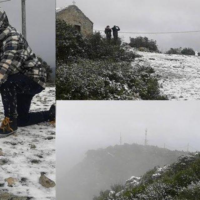 Snijeg na brdu Hum na Visu<br />