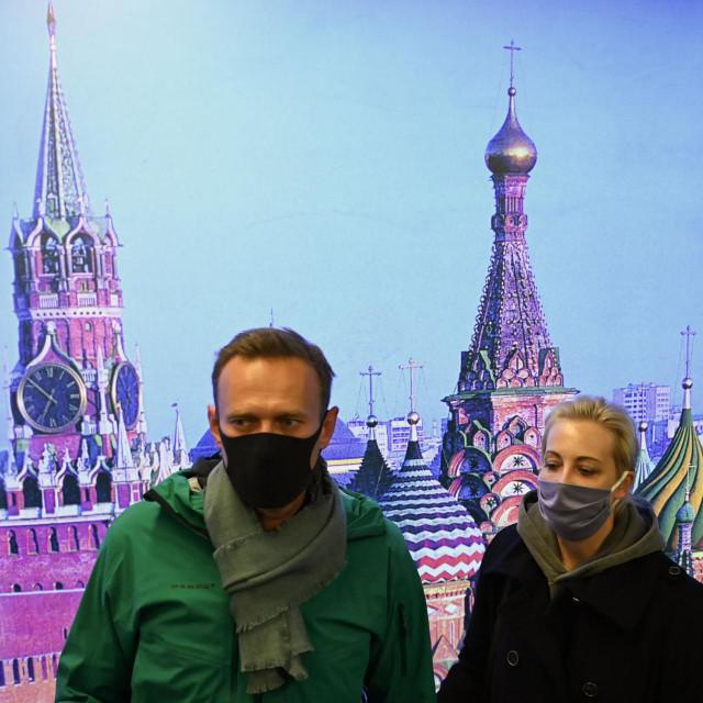 Aleksej Navaljni i supruga Yulia