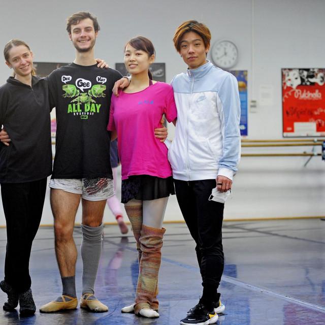 Eva Karpilovska, Jurgen Rahimi, Minori Nakayama i Aaron Kok<br />