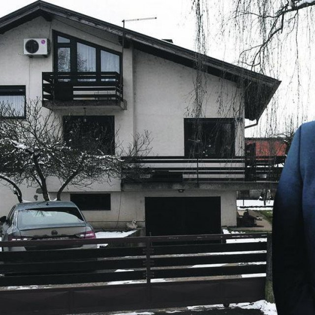 Kuća u Glini u državnom vlasništvu u kojoj živi Ivo Žinić (u krugu)