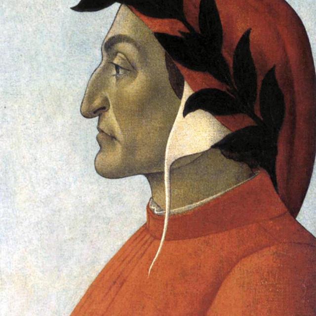 Dante Alighieri, portret Sandra Botticellija, u Pakao je smjestio brojne suvremenike, crkvene velikodostojnike, pape i političke protivnike<br />