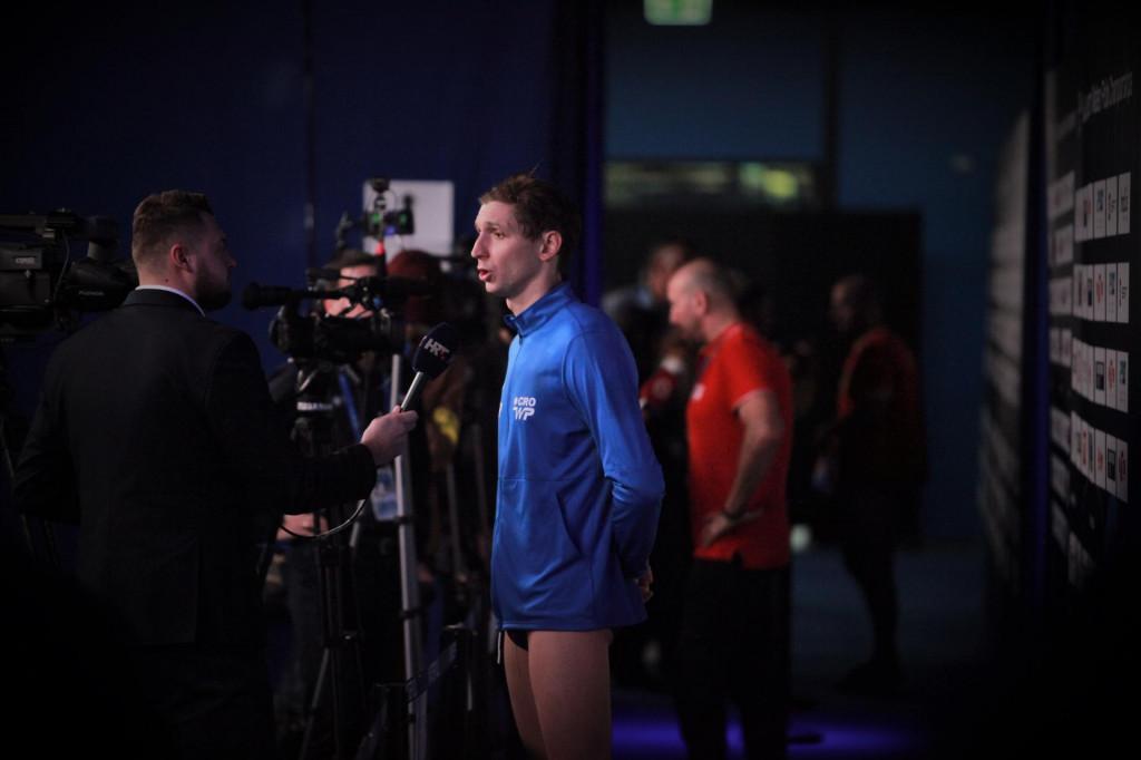 Marko Bijač u mix zoni Europskog prvenstva u Budimpešti foto: Tonči Vlašić