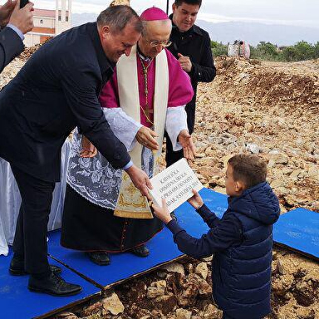 Polaganje kamena temeljca za novu školu u studenom prošle godine