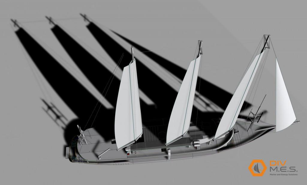 Simulacija budućeg jedrenjaka na električni pogon koji će se graditi u 'Brodosplitu'