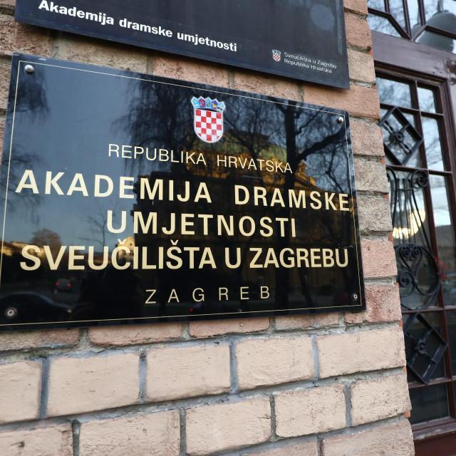Akademija dramske umjetnosti Zagreb<br /> Željko Puhovski/CROPIX