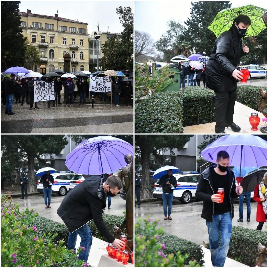 prosvjed podrške policajcu Matku Klariću ispred vile Palme