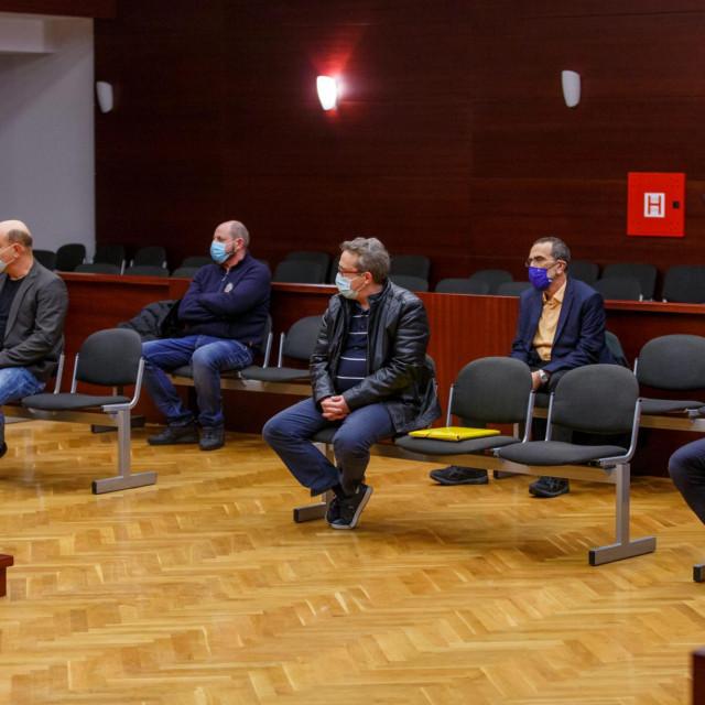 Optuženi Suzana Jelavić, Dragiša Šušić, Mario Tafra, Boris Samardžija, Valter Nutrizio i Boran Uglešić