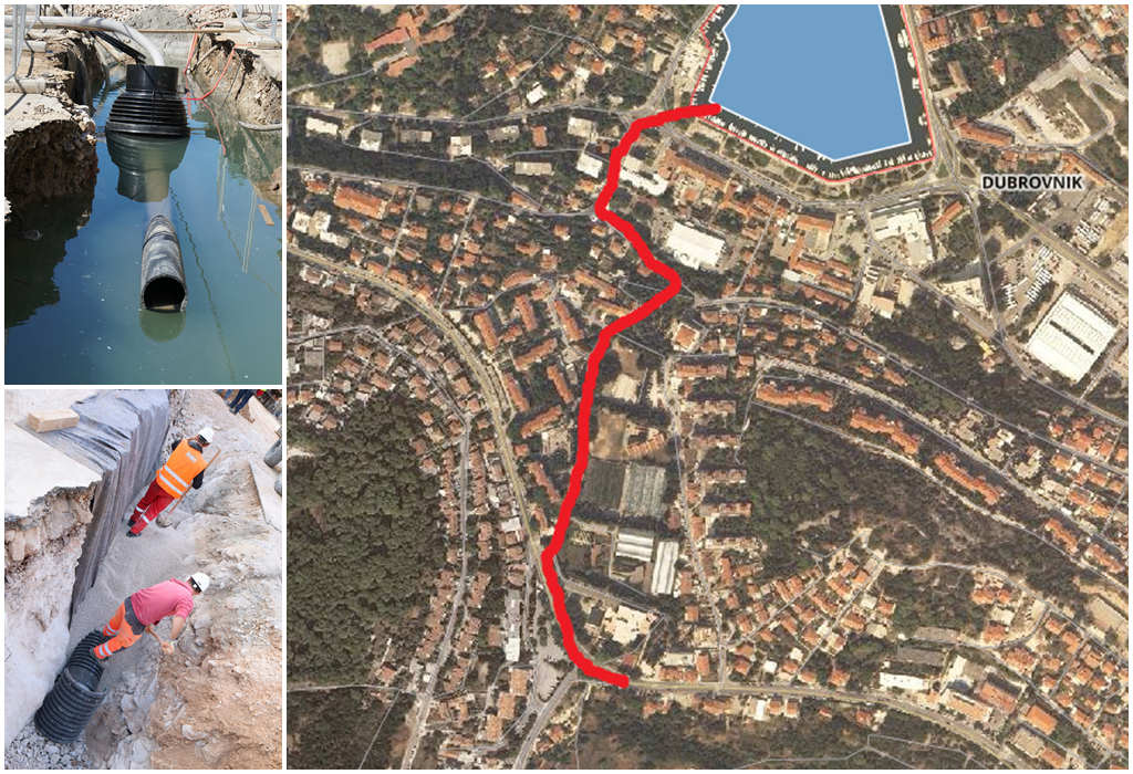 Grad Dubrovnik dobio je građevinsku dozvolu za projekt izgradnje kolektora oborinske odvodnje Montovjerna - Batala