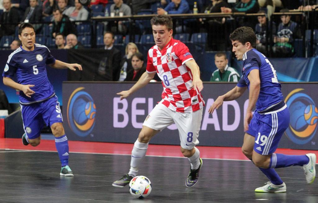 Dario Marinović na Europskom prvenstvu 2016. u Beogradu u utakmici protiv Kazahstana foto: Tonči Vlašić