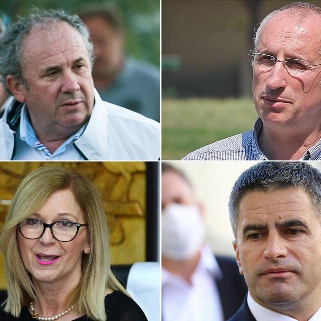 Željko Kerum, Ivica Puljak, Branka Ramljak i Vice Mihanović