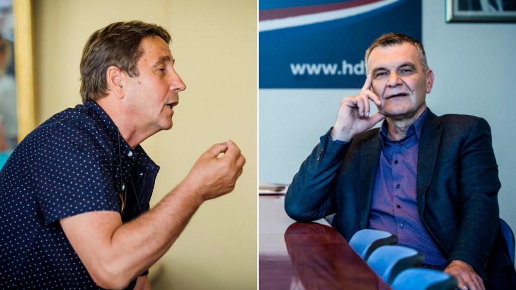 Stipe Petrina (lijevo) žestoko se obrušio na prvog čovjeka HDZ-a u Šibensko-kninskoj županiji Nediljka Dujića (desno)