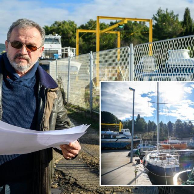 Zoran Belak, ravnatelj Razvojnog inovacijskog centra AluTech i lokacija gradilišta purifikacijskog centra za obradu školjaka koji će se graditi europoskim novcem
