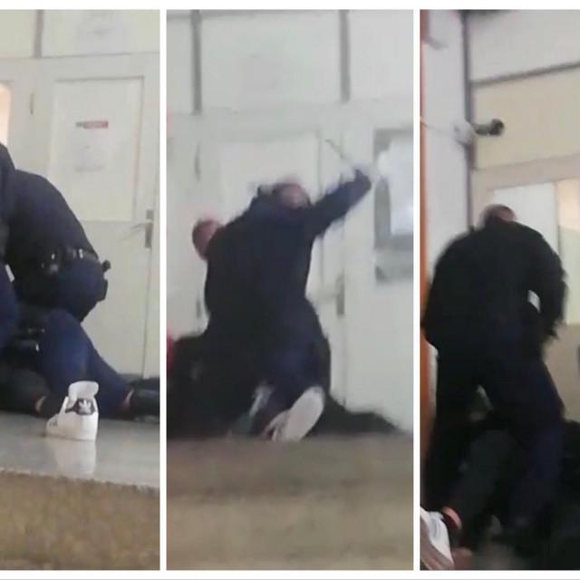 Ante Radan u sukobu s pravosudnim policajcima