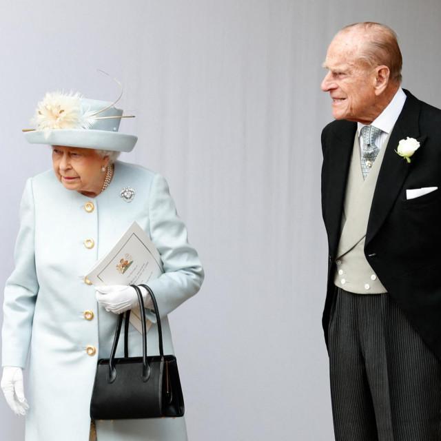 Kraljica Elizabetha II. i princ Philip na vjenčanju princeze Eugenie i Jacka Brooksbanka u listopadu 2018. godine