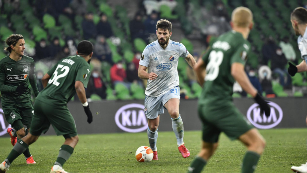 Bruno Petković (Dinamo) protiv Krasnodara foto: Ronald Goršić / CROPIX