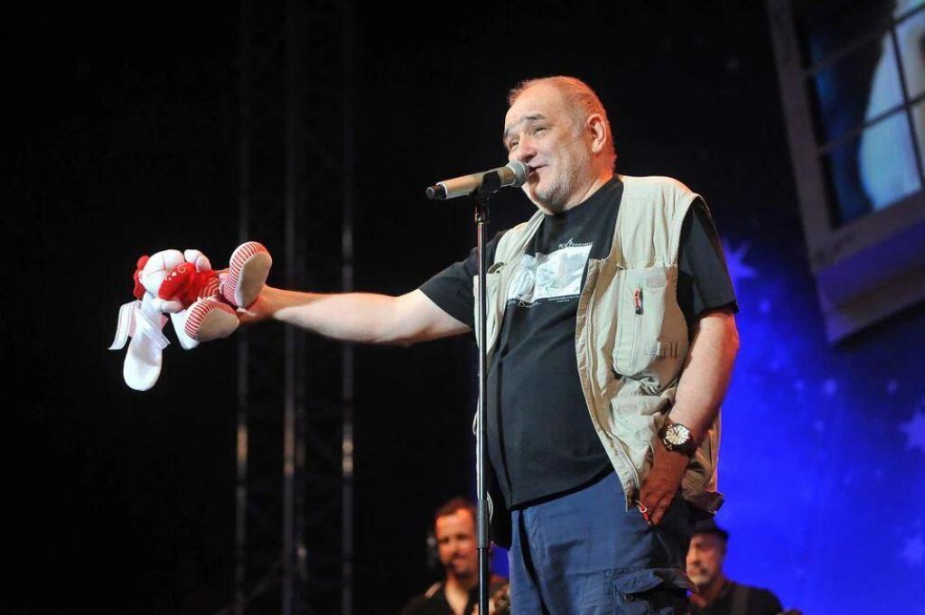 Đorđe Balašević na koncertu na Višnjiku u Zadru u svibnju 2017. godine