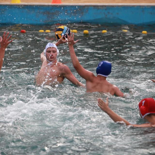 Marin Tomasović (Jug AO) na završnom turniru juniorskog Kupa Hrvatske u Korčuli u ljeto 2020. foto: Tonči Vlašić