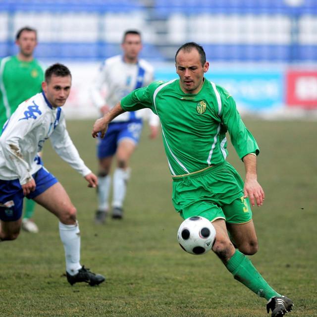 Hasan Kacić u dresu Istre 1961. protiv Osijeka u osječkom Gradskom vrtu 2011. godine foto: Vlado Kos/Cropix
