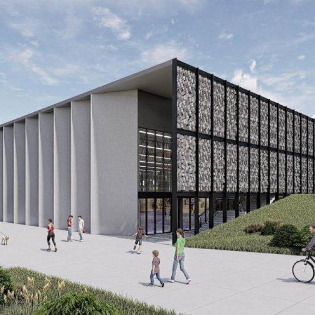 Simulacija buduće sportske dvorane Račice