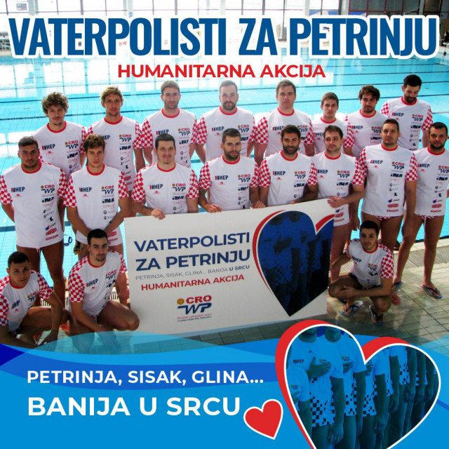 Vaterpolisti će pomoći obnoci sportske dvorane u Petrinji