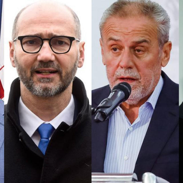 Tomislav Tomašević, Joško Klisović, Milan Bandić i Davor Filipović