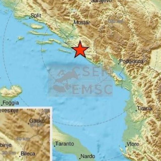 Potres na dubrovačkom području
