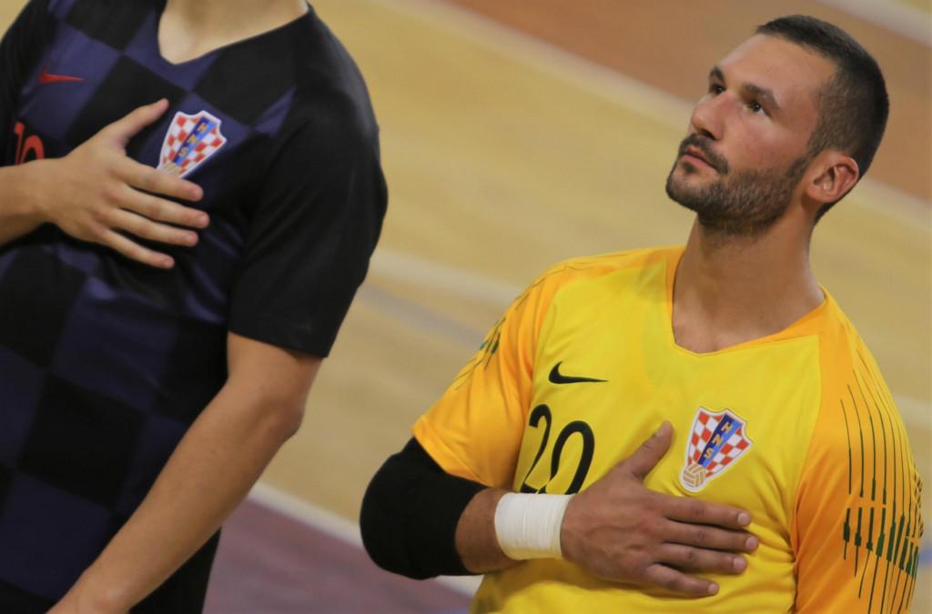 Zoran Primić, vratar Squarea i hrvatske malonogometne reprezentacije foto: Tonči Vlašić