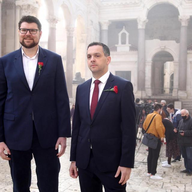 Peđa Grbin i Ante Franić na Peristilu