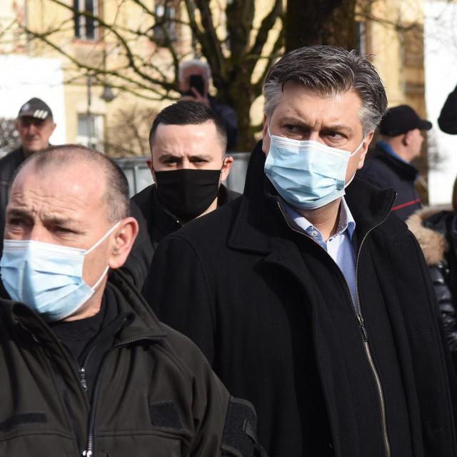 Na fotografiji: Tomo Medved, Andrej Plenković