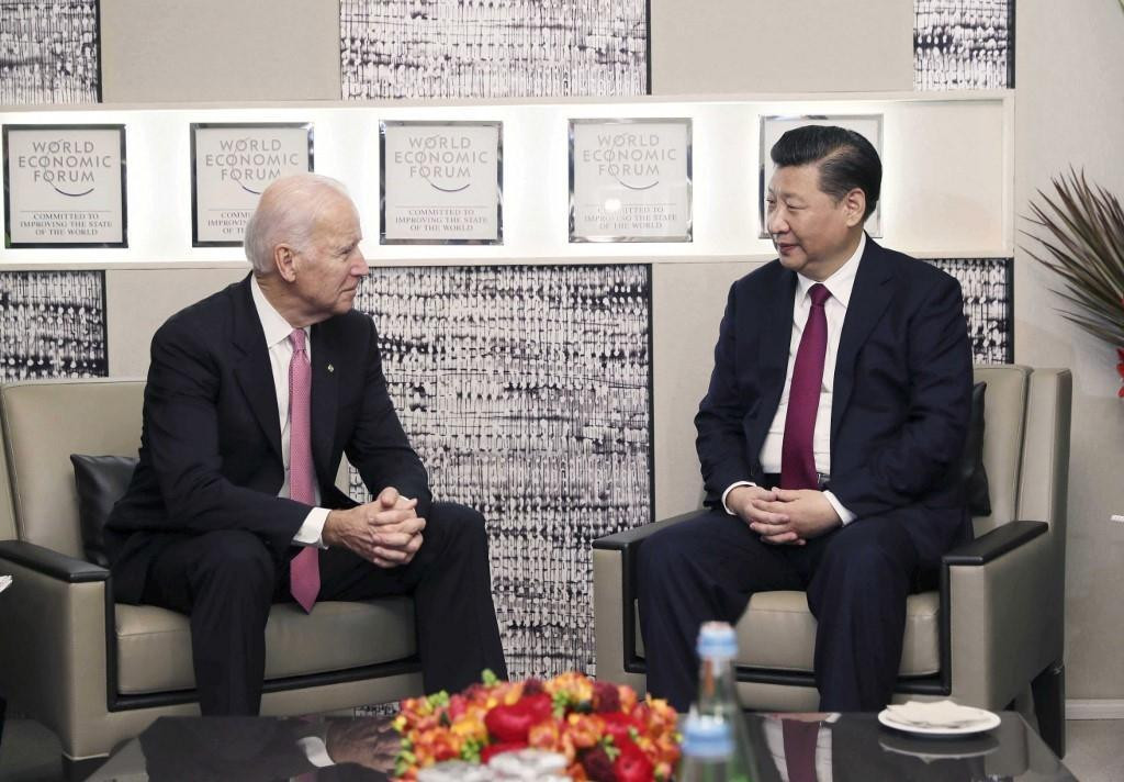 Joe Biden i Xi Jinping u Davosu 2017. godine