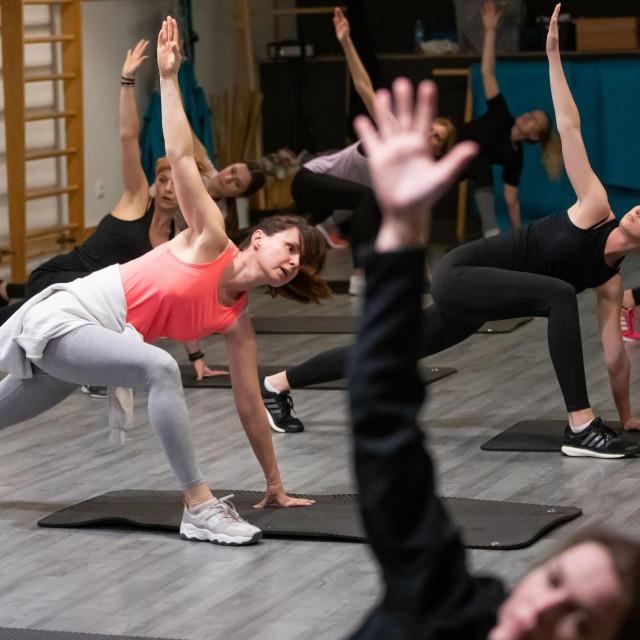 Vježbanje u fitness klubu Mint