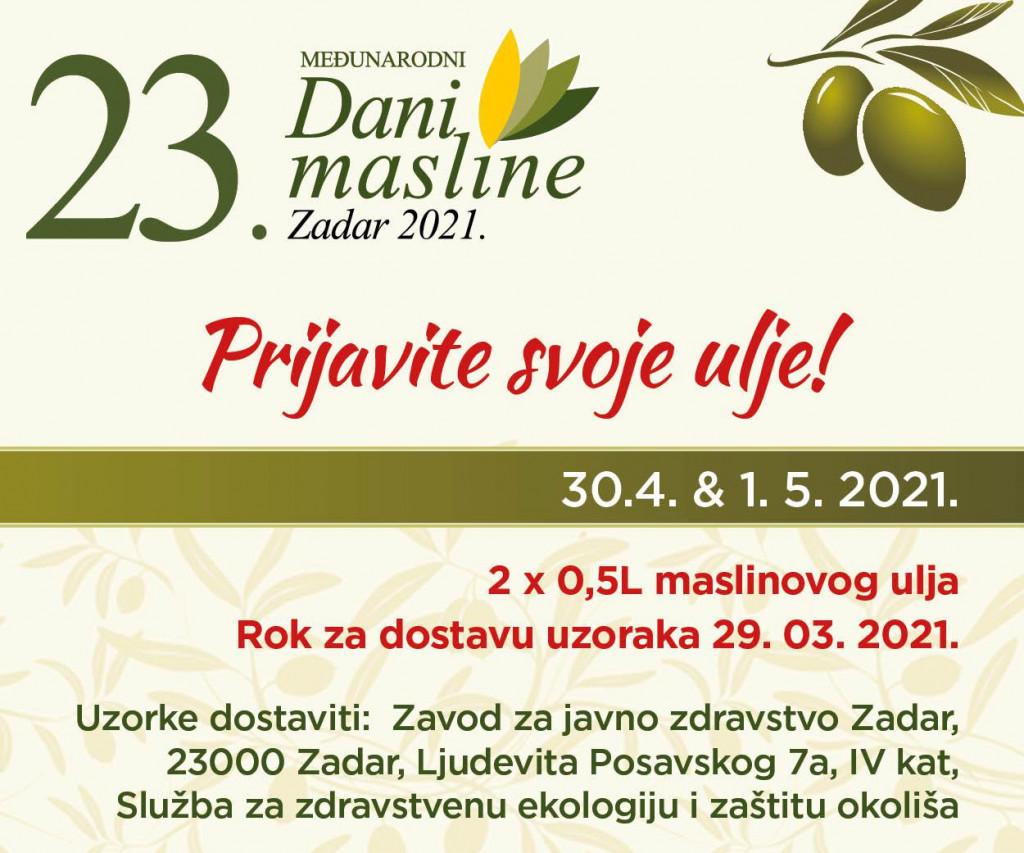 Dani masline Zadar 2021.