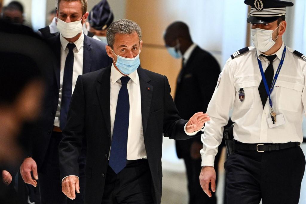 Nicolas Sarkozy tijekom suđenja